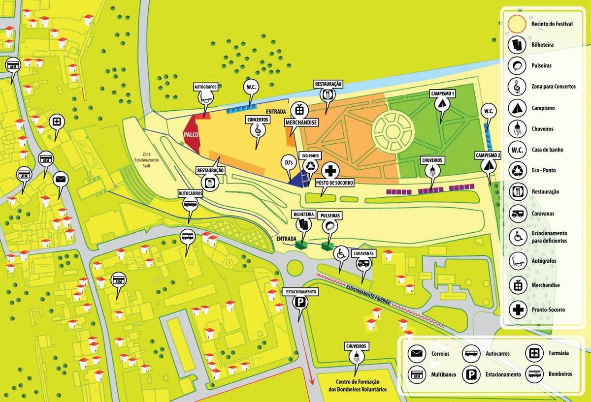 Mapa Vagos Open Air