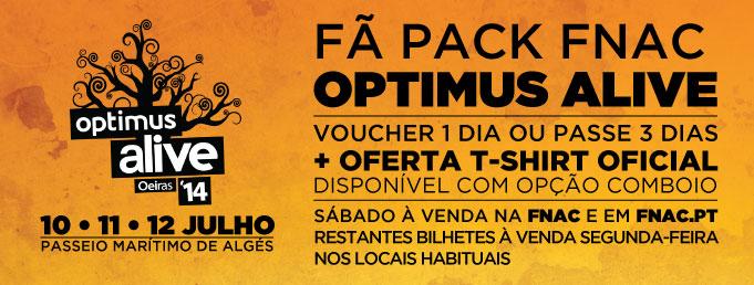 Bilhetes Optimus Alive 2014 à venda