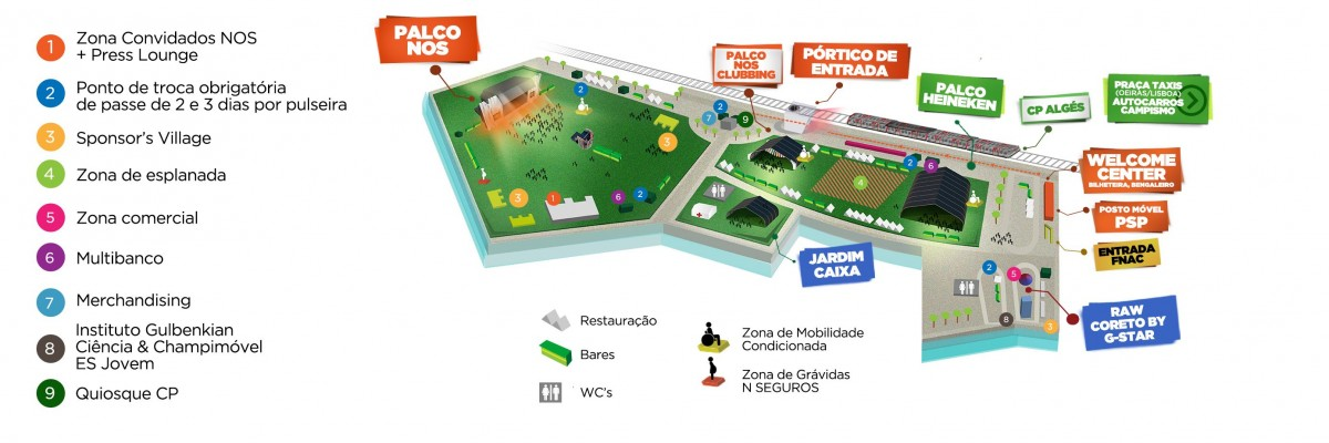 Mapa Optimus / NOS Alive 2014