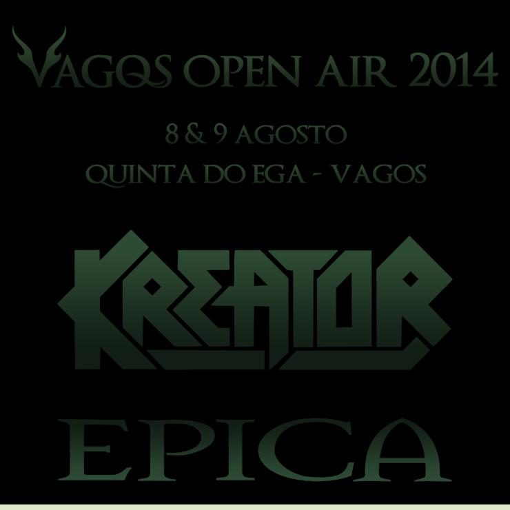 Confirmados Kreator e Epica no Vagos Open Air 2014, 8 e 9 de Agosto