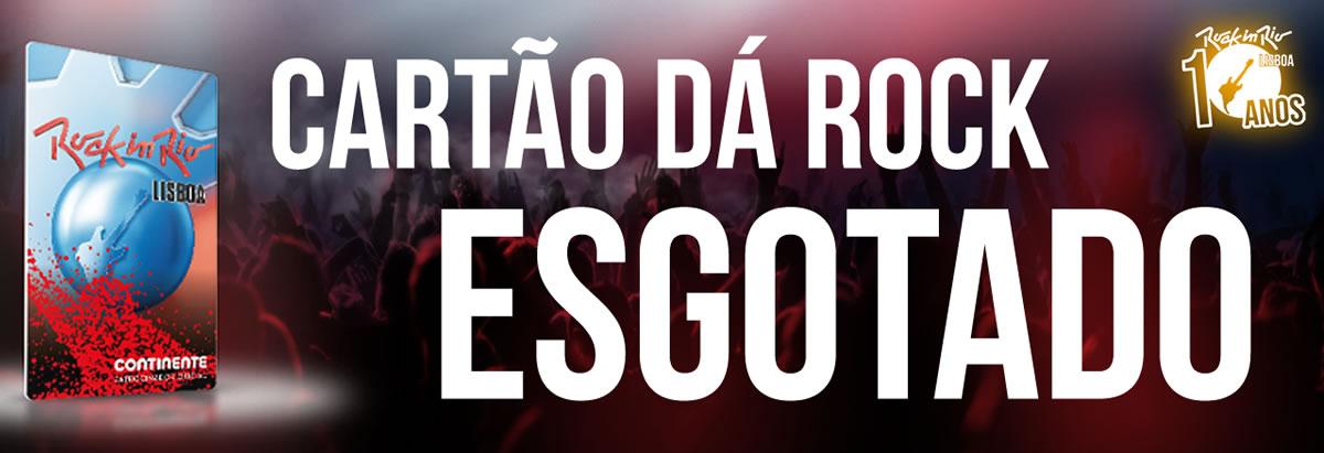 """Esgotou o """"Dá Rock"""", bilhete para o Rock In Rio com 50% de desconto em cartão Continente"""