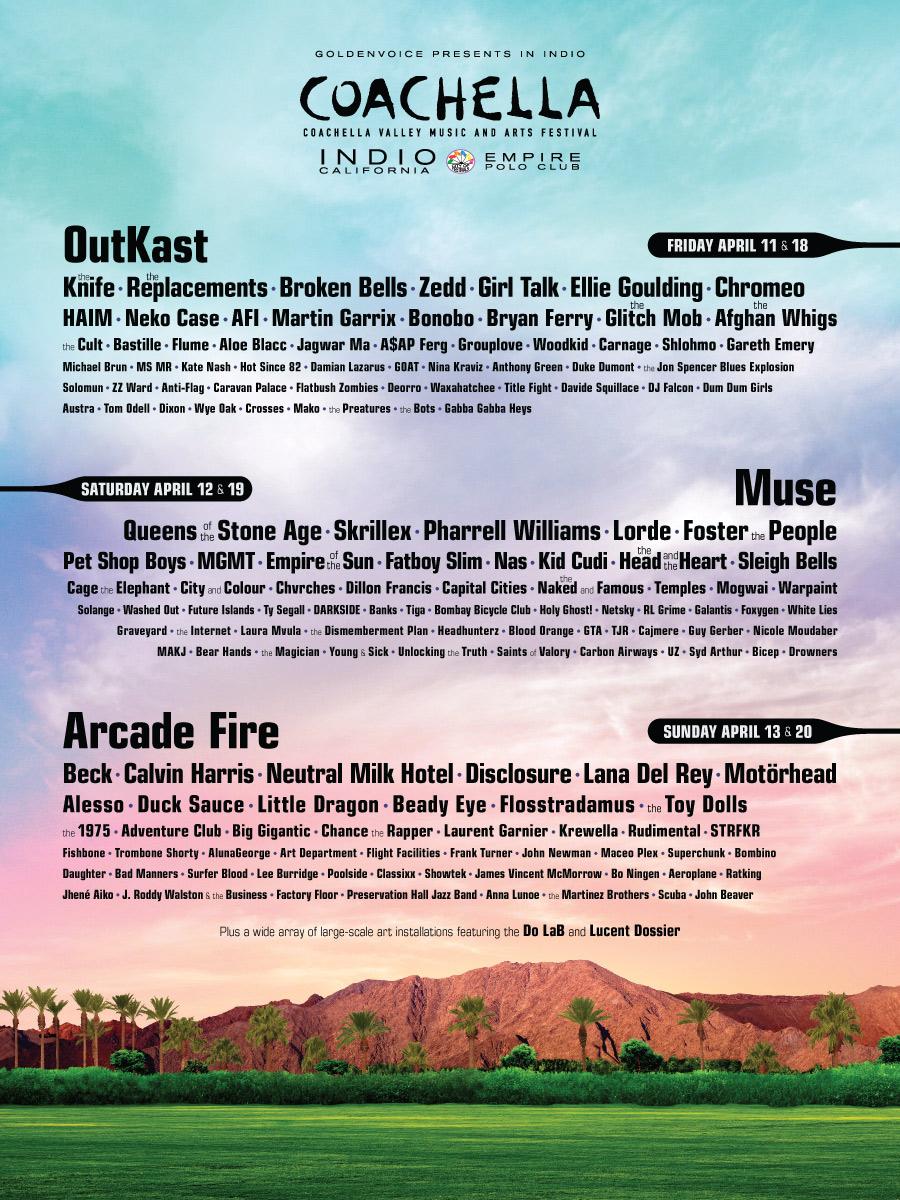 Lineup Coachella 2014