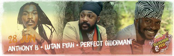 Sumol Summer Fest: Anthony B + Lutan Fyah + Perfect Giddimani juntos em palco