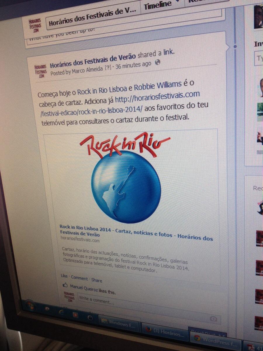 Até já #rockinriolisboa