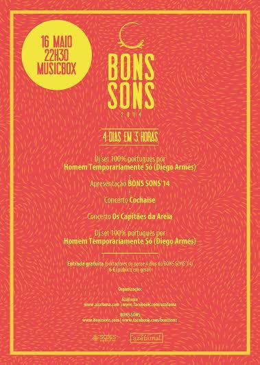 Festa Warm-up Bons Sons 2014 no Musicbox a 16 de Maio