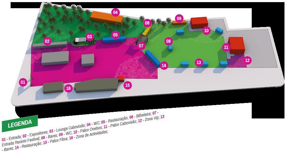 Cabovisão Oeste Fest - Mapa do Recinto