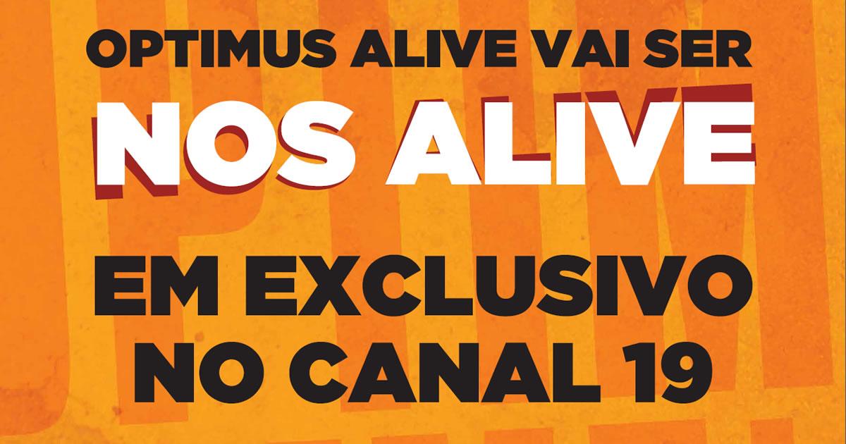 Optimus / NOS Alive com canal TV exclusivo na grelha da NOS