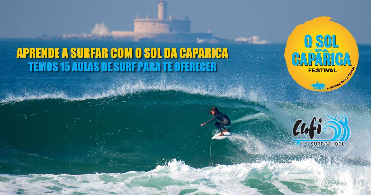 Passatempo: 15 aulas de Surf na Costa da Caparica
