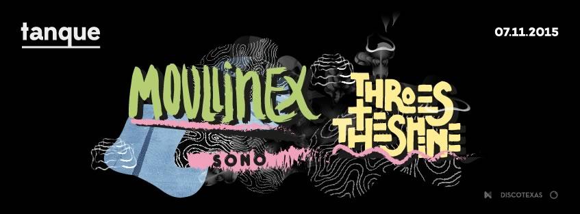 Inauguração do Tanque a 7 de Nov. com Moullinex e Throes + The Shine