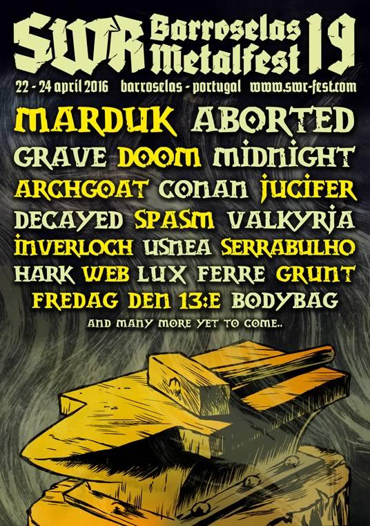 Mais dez nomes anunciados para o SWR Barroselas Metalfest