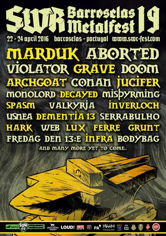 Violator, Monolord, Misþyrming, Dementia 13 e Infra no SWR Barroselas 2016