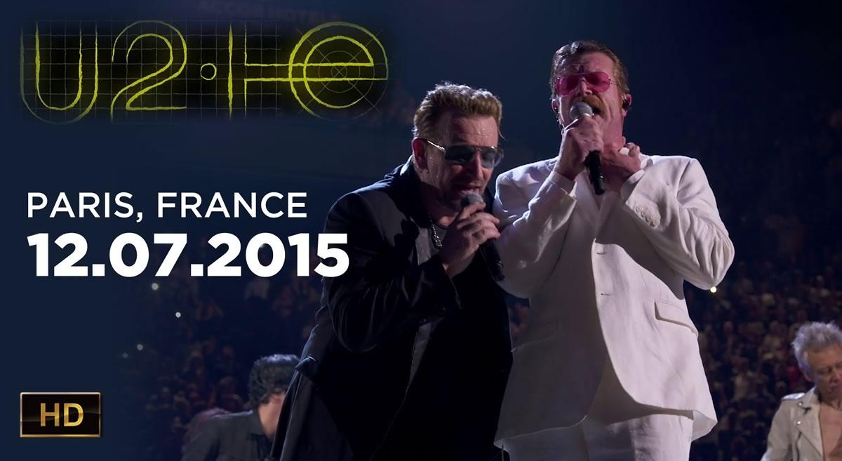 Concerto dos U2 em Paris disponível no YouTube