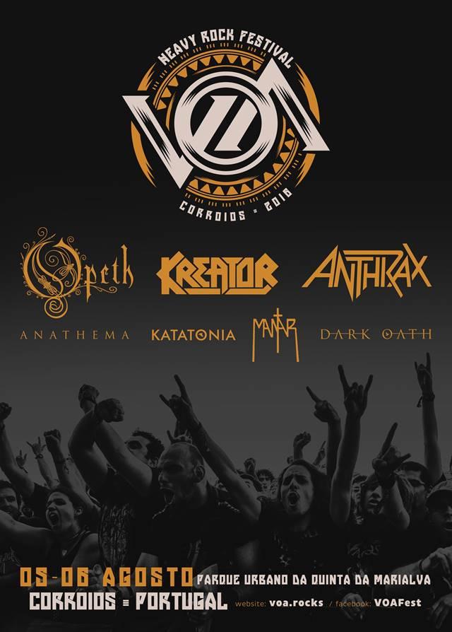 VOA 2016 confirma Anthrax, Kreator, Mantar e Dark Oath