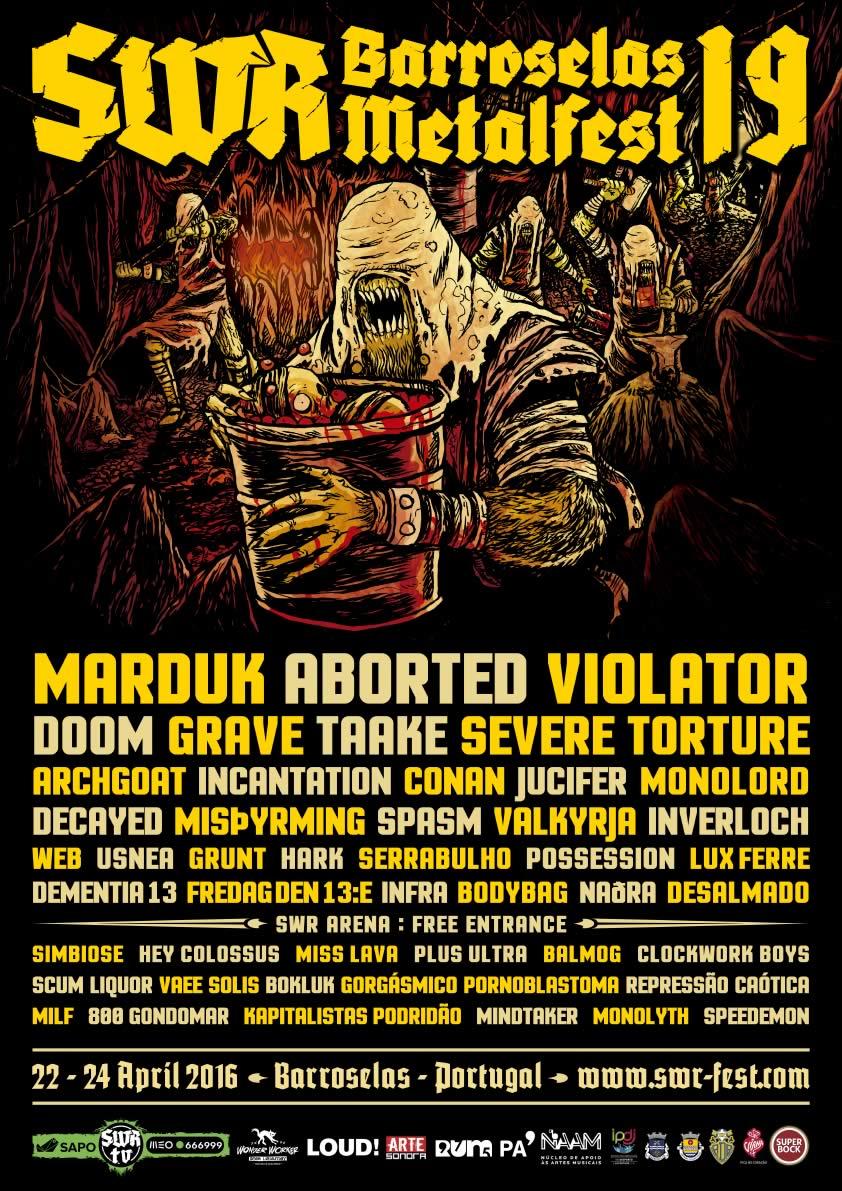 SWR Barroselas Metalfest - Cartaz fechado e Alinhamento por dias