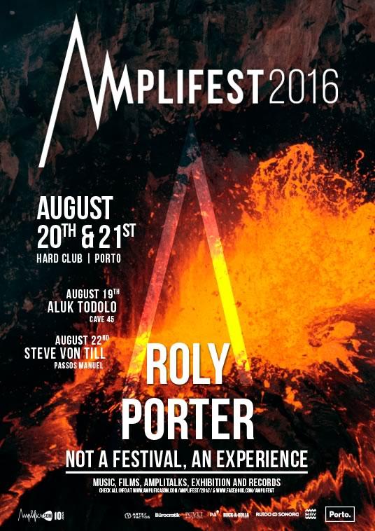 Roly Porter é a nova confirmação no Amplifest 2016
