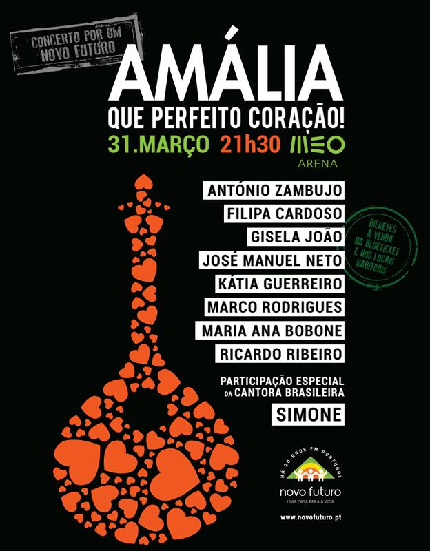 Amália homenageada no MEO Arena em Concerto Solidário pela Associação Novo Futuro