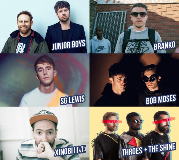 Junior Boys, Branko, SG Lewis, Bob Moses, Xinobi e Throes+The Shine no Clubbing a 7 de Julho