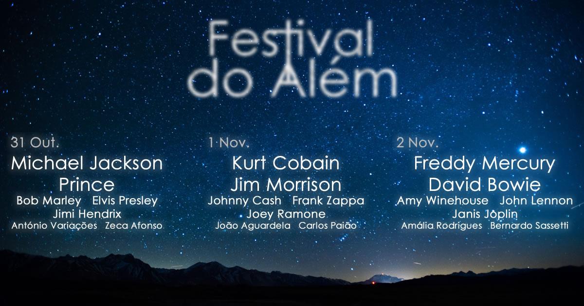 Anunciados os nomes para o Festival do Além