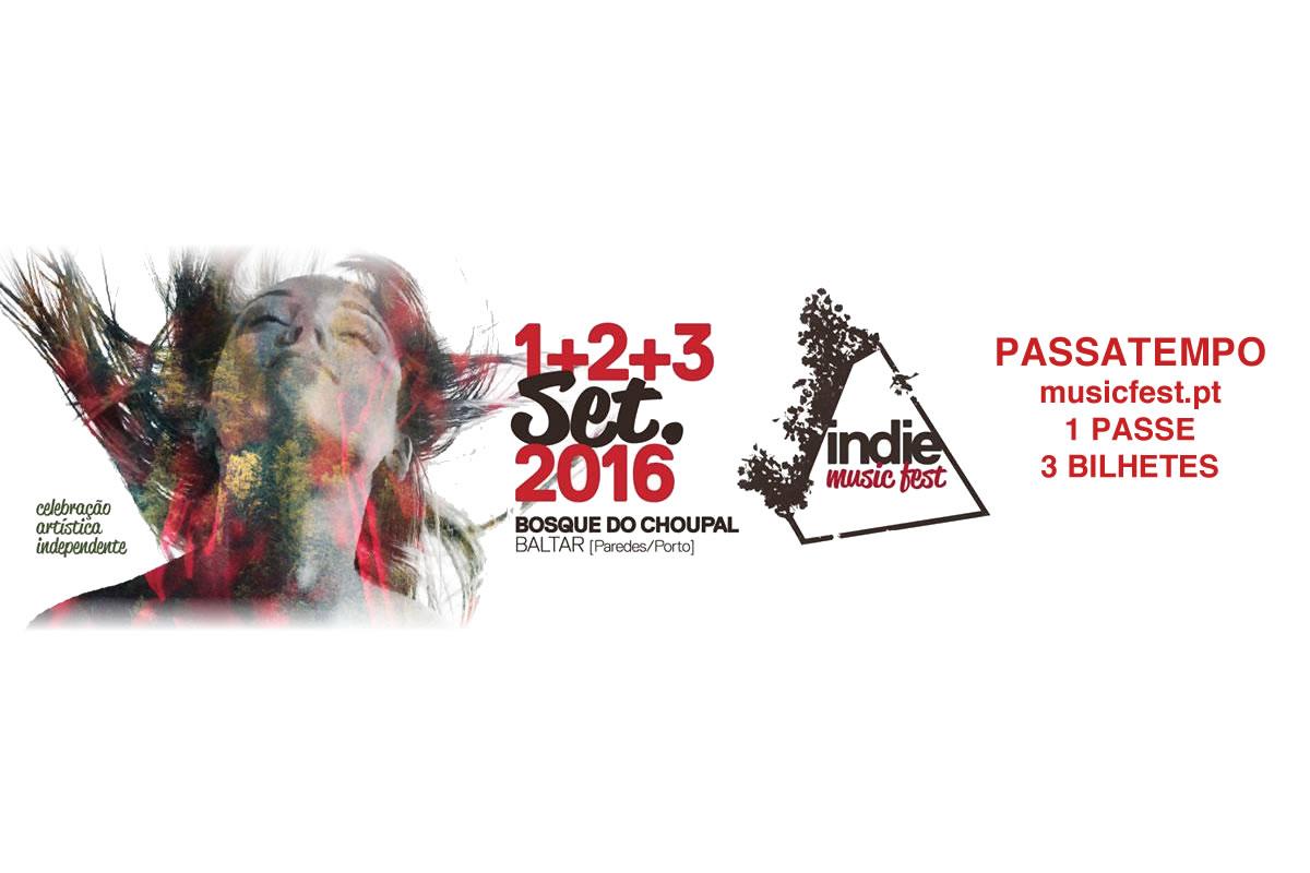Passatempo: 1 passe geral e 3 bilhetes para o Indie Music Fest 2016