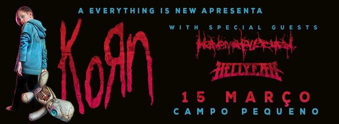 Korn a 15 de Março no Coliseu de Lisboa com convidados Heaven Shall Burn e Hellyeah