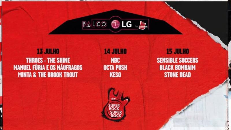 Super Bock Super Rock: Novo Palco LG by SBSR.FM dedicado à nova música nacional