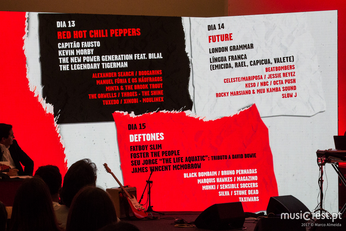 Consulta todo o cartaz do Super Bock Super Rock 2017 em musicfest.pt/festival-edicao/super-bock-super-rock-2017/