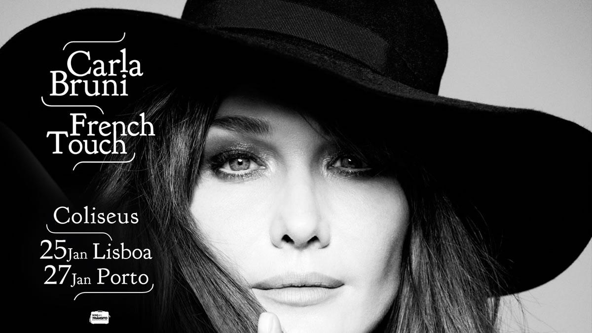 Carla Bruni estreia-se ao vivo em Portugal a 25 e 27 de Janeiro nos Coliseus de Lisboa e Porto