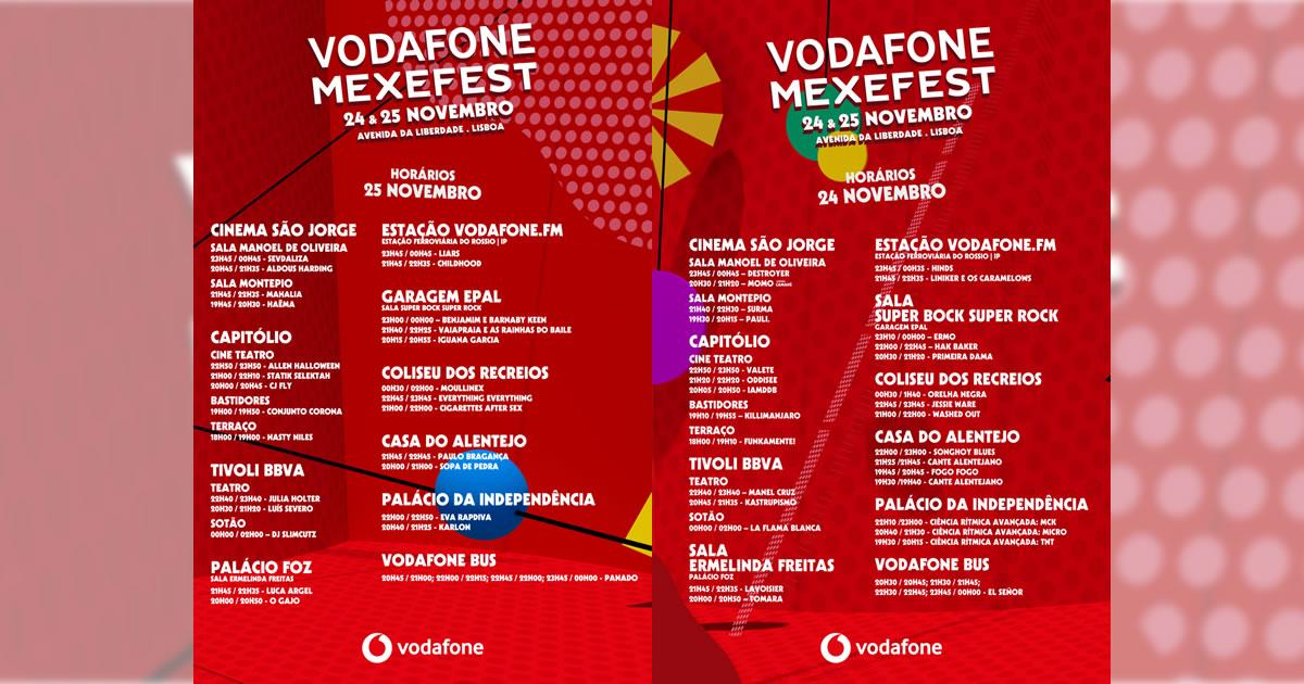 Vodafone Mexefest 2017: Cartaz completo e horários já disponíveis