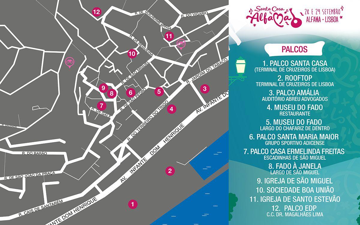Santa Casa Alfama 2018 - Mapa do recinto