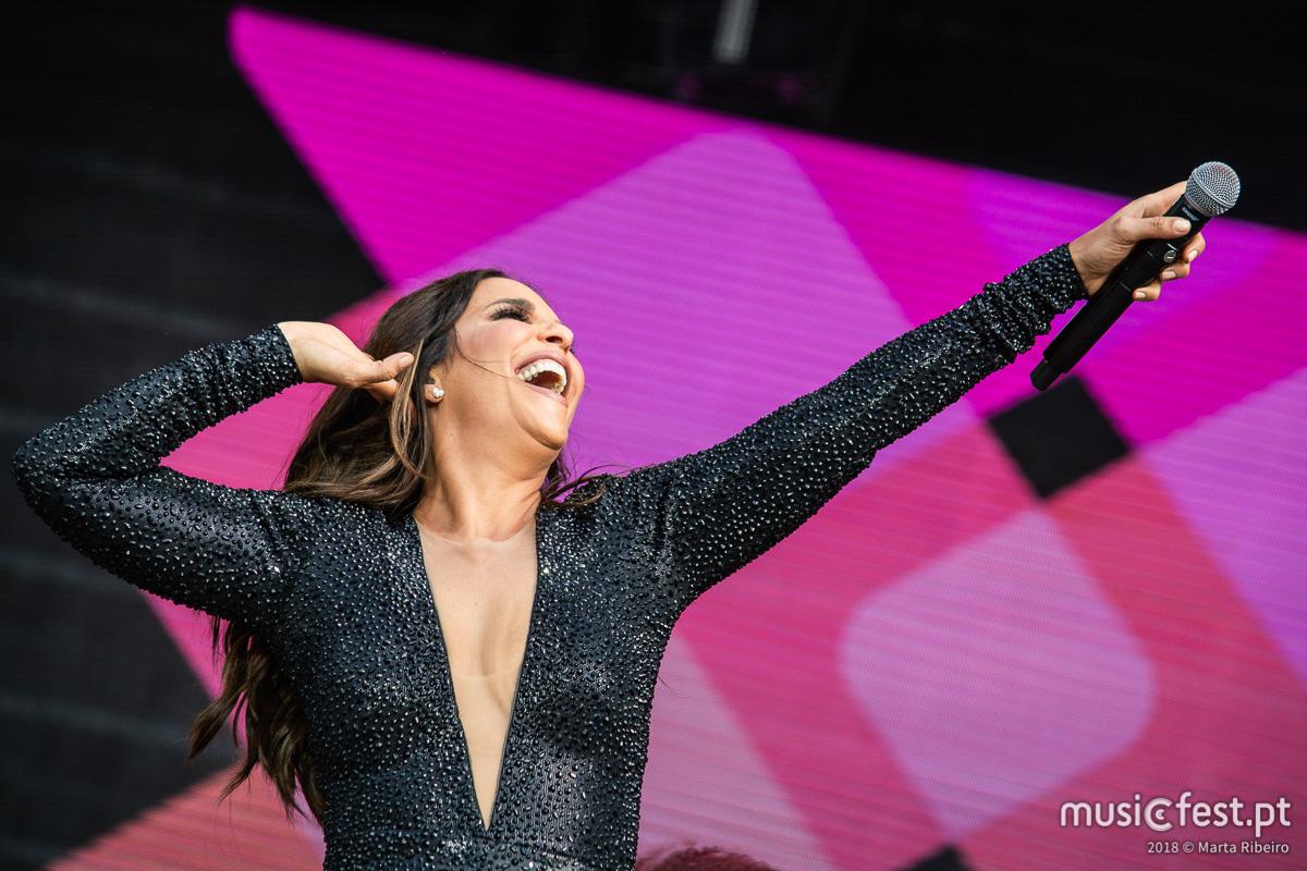 Ivete Sangalo faz espetáculo especial para celebrar a sua 10ª atuação na 9ª edição do Rock in Rio Lisboa