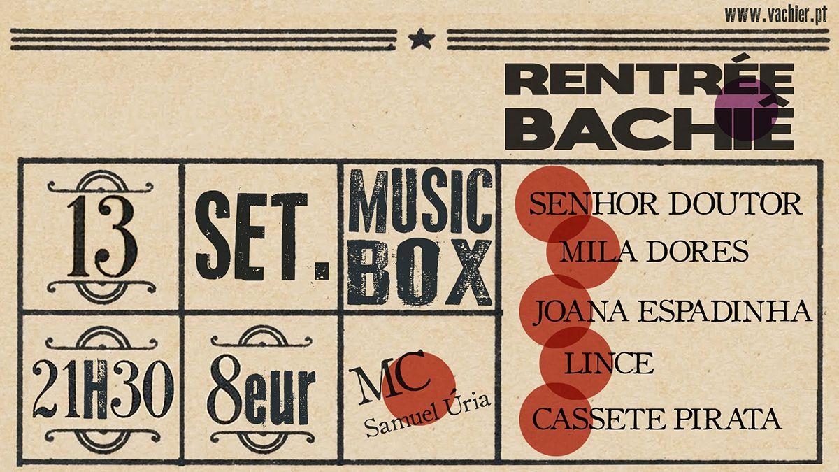 Rentrée Bachiê, hoje no Musicbox, com Cassete Pirata, Joana Espadinha e outros artistas