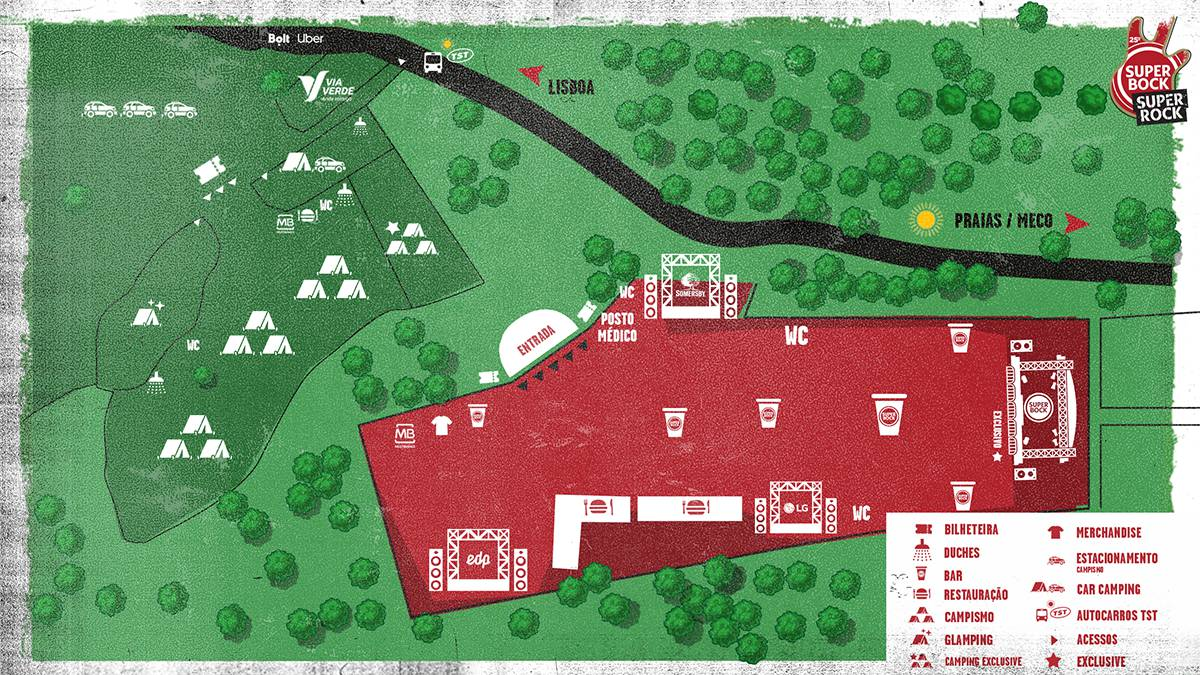 Super Bock Super Rock 2019 - Mapa do recinto