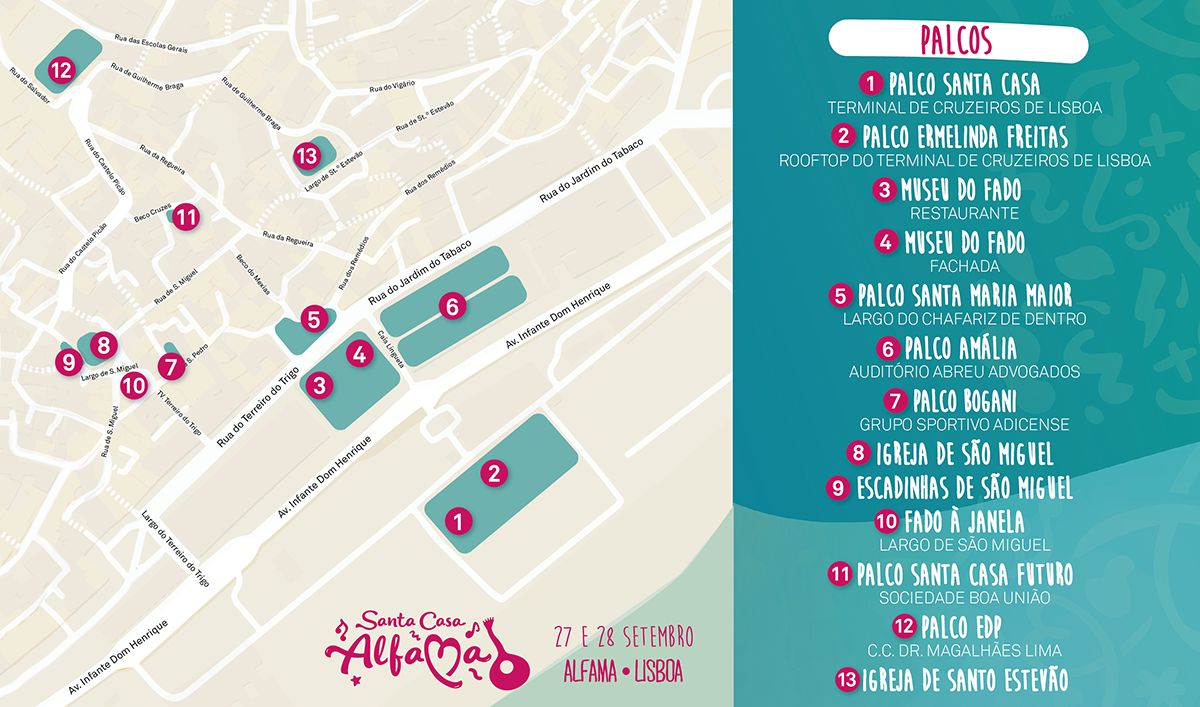 Santa Casa Alfama 2019 - Mapa do recinto