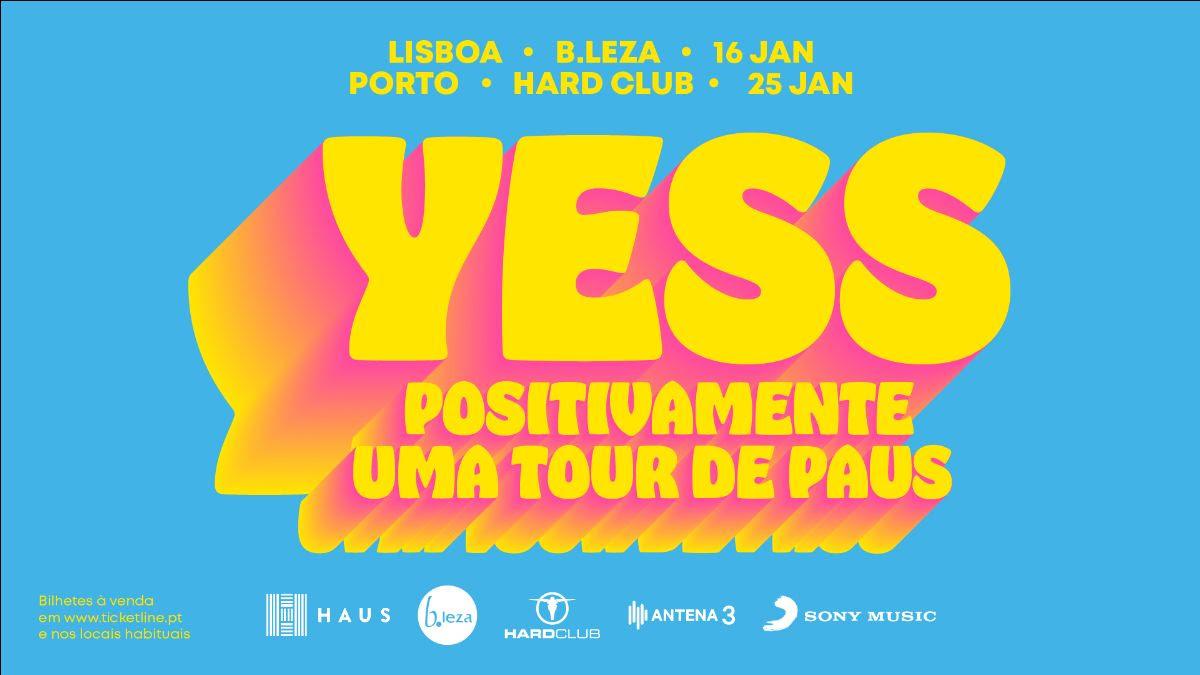PAUS apresentam YESS em Lisboa e Porto em Janeiro