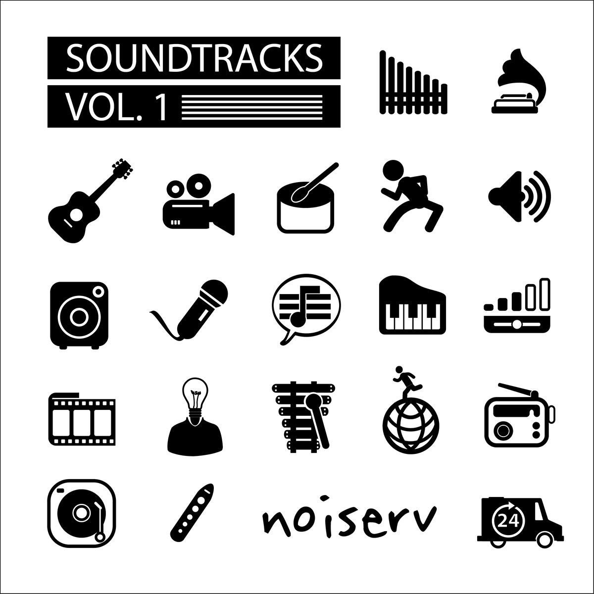 """Noiserv edita """"Soundtracks Vol. 1"""" - compilação digital de 49 canções compostas para bandas sonoras e outras peças artísticas"""