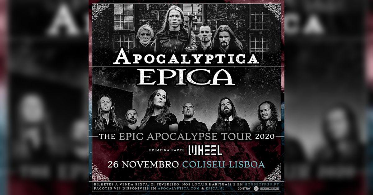 Apocalyptica e Epica trazem digressão conjunta a Portugal