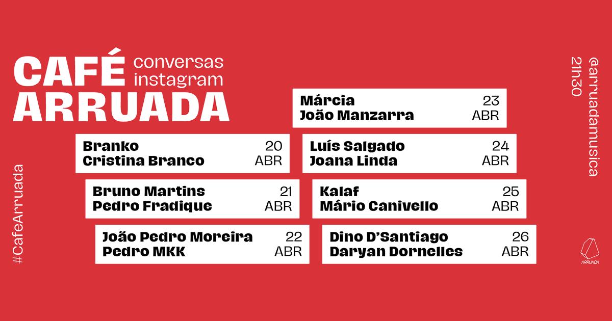 Café Arruada – conversas em direto no Instagram