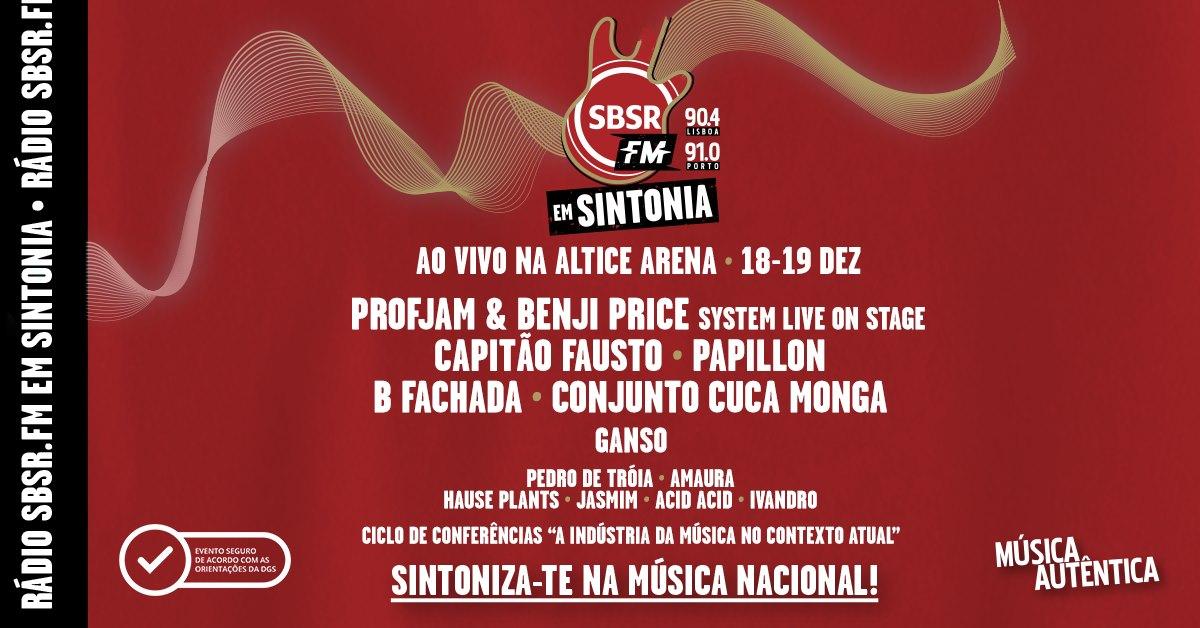 Rádio SBSR.FM em Sintonia, 18 e 19 dezembro na Altice Arena em Lisboa