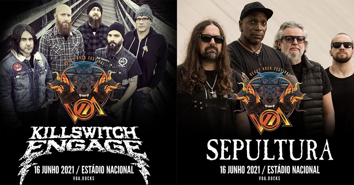 Killswitch Engage, Sepultura, Bizarra Locomotiva, Crossfaith e Sylosis no VOA 2021