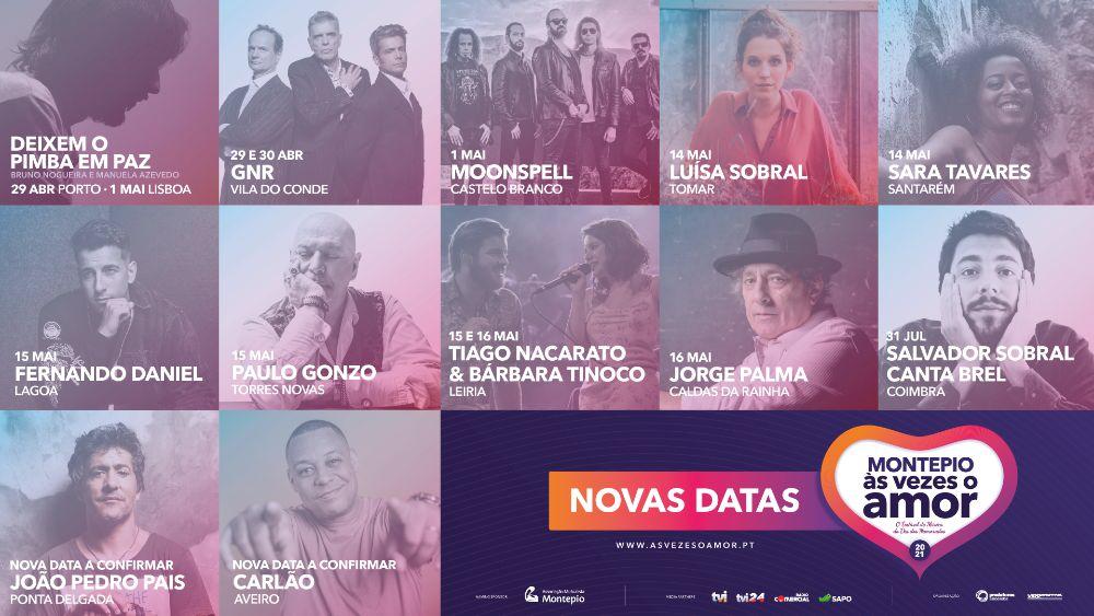 Festival Montepio Às Vezes o Amor adiado para Abril e Maio